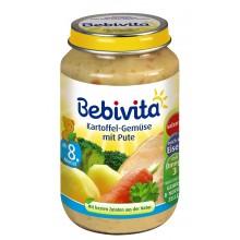 Бебивита пюре - Bebivita Картофи и зеленчуци с пуешко месо 220гр.