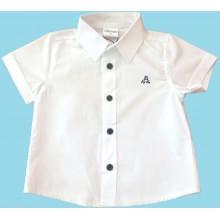 КОНТРАСТ Риза бяла за момче 98-116см.