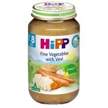 Хип пюре - Hipp Bio Зеленчуци с телешко месо 220гр.