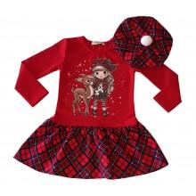 Детска рокля с барета Мариела 92-122