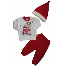 Съни кидс Коледен комплект  Руди 68-80см