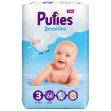 Pufies Sensitive 3 пелени 6-10кг. 66бр.