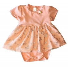 Бебешка боди рокля Звездички 56-80