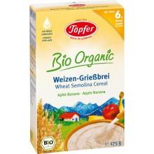 Тьопфер каша - Topfer инстантна каша Пшеничен грис, ябълка и банан 175гр.