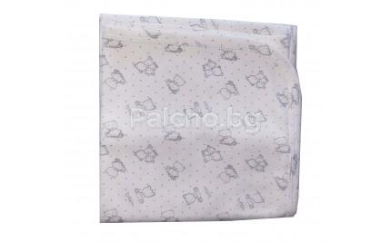 Бебешка памучна пелена 80/90см