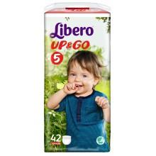 Либеро гащи - Libero Up&Go 5 гащи 10-14кг. 42бр.