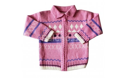 Жилетка плетиво за момиче 80