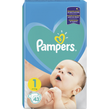 Pampers Active baby-dry 1 пелени 2-5кг. 43бр.