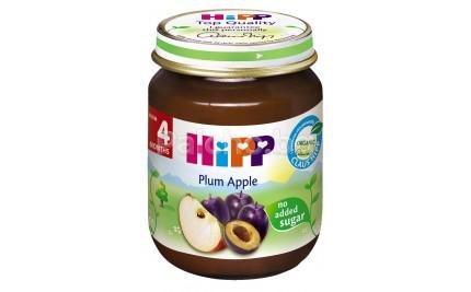 Хип пюре - Hipp Bio Ябълки и сливи 125гр.