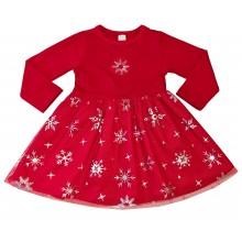 Коледна рокля Снежинки 86-116