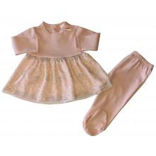 Бебешка рокля и ританки  50-68