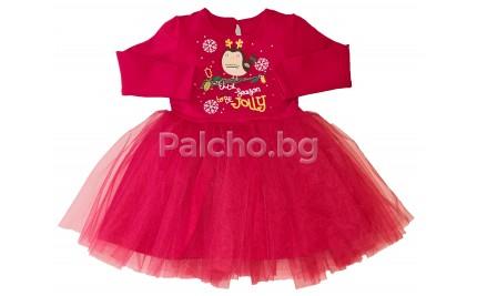 Коледна детска рокля 74-116