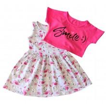 Детска лятна рокля Фламинго 92-122