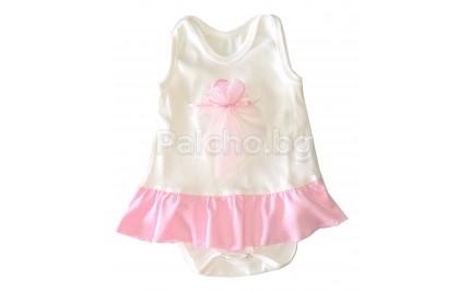 Бебешка рокля боди 56-68