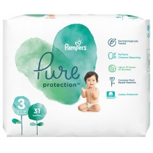 Pampers Pure Protection Пелени 3 6-10кг 31бр