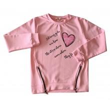 Детска блуза за момиче Сърчице 110-140