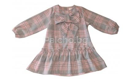Детска рокля Контраст 80-92