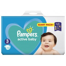 Pampers Active baby 3 пелени 6-10кг. 104бр.