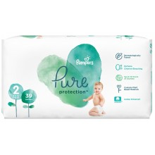 Pampers Pure Protection / Harmony Пелени 2 4-8кг 39бр