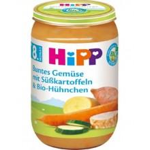 Хип пюре - Hipp Bio Пилешко със сладки картофи 220гр