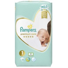 Pampers Premium Care 1 пелени 2-5кг. 54бр.