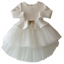 Официална бяла рокля Контраст 68-122