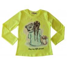 Блуза за момиче Мече 122-146