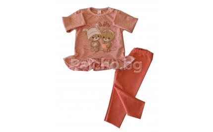 Бебешки комплект за момиче Мече 62-80