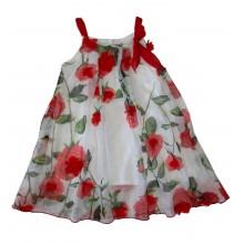 Контраст лятна рокля Цветя 98-122