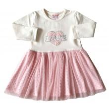 Мариела детска рокля Сърце 86-116