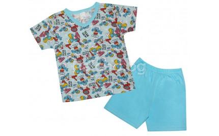 Детска лятна пижама Смърфчета 80-104