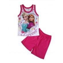 Лятна пижама за момиче Ана и Елза 98-116