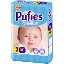 Pufies Sensitive 3 пелени 4-9кг. 66бр.