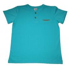 Контраст Блуза с къс ръкав за момче 128-152