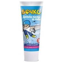 Бочко Детска паста за зъби с аромат на дъвка 3г+ 75мл.