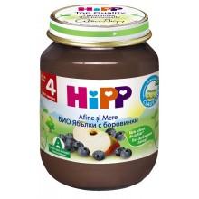 Хип пюре - Hipp Bio Ябълки с боровинки 125гр.