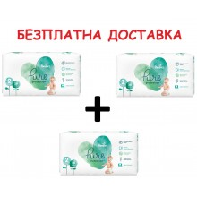 Pampers Pure Protection / Harmony Пелени 2 4-8кг 117бр + Безплатна доставка до офис на Еконт/Спиди
