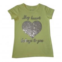 Лятна блуза с пайети Сърце 116-152