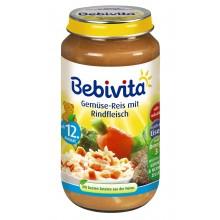 Бебивита пюре - Bebivita Зеленчуци, ориз и телешко месо 250гр.