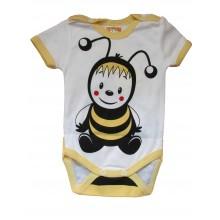 Боди с къс ръкав Пчеличка 62-86 см