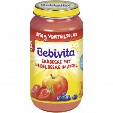 Бебивита пюре - Bebivita Ябълки с ягоди и боровинки 250гр