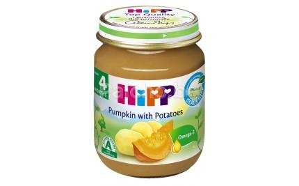 Хип пюре - Hipp Bio Тиква с картофи 125гр.