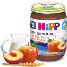 """Хип Млечна каша """"Лека нощ"""" грис с ябълки и праскови 190гр."""