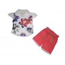 Летен комплект за момиче Цветен рай 74-86