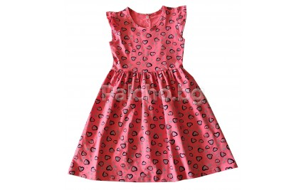 Детска лятна рокля Сърца 128-152