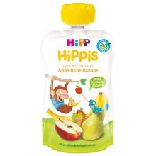 Hipp Bio Плодова закуска Ябълки, круши, банан 100гр.