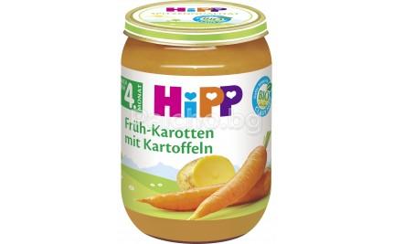 Хип пюре - Hipp Bio Ранни моркови с картофи 190гр.