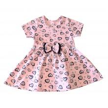 Детска лятна рокля Сърца 80-98