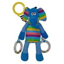 Lorelli Шарено слонче с дрънкалка и гризалка