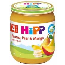 Хип пюре - Hipp Bio Банан, круша и манго 125гр.